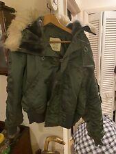 70'S Post Vietnam N-2B Usaf Aircrew Mens Pilot Jacket W/Fur Hood (M)-Excellent