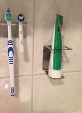 Zahnpastahalter aus Edelstahl Halter für Zahnpasta Zahnbürstenhalter