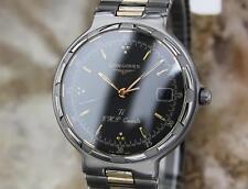 Longines Conquest Swiss Made 33mm Titanium Quartz Dress Watch c1980 CC10