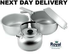 Royal Billy Can Lightweight 5 Piece Camping Cook set Kettle Pans Pan Portable