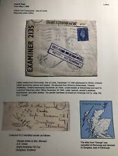 1944 Stormoway Island England Civil Censorship Cover To Wirral Sealed Letter