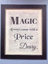 C'ERA UNA VOLTA LA MAGIA VIENE SEMPRE... Idea regalo pagina di dizionario Antico Art #m1