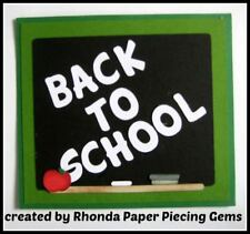 SCHOOL BLACKBOARD title paper piecing  Premade Scrapbook Pages DIE CUT by Rhonda