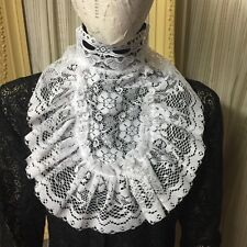 White lace COLLAR Jabot pirate Gothic Lolita Victorian Steampunk dress 4716