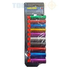 "10pc 1/2"" inch Drive Coloured Deep Socket Tool Set 13,14,15,16,17,18,19,21,24mm"