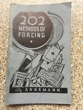 (H)Vintage Davenports Magic Trick Book 202 Methods Of Forcing By Annemann