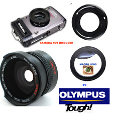 HD 8K ULTRA WIDE FISHEYE LENS + MACRO LENS FOR OLYMPUS TOUGH TG5 TG4 TG3 TG2 TG1