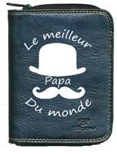 Porte monnaie porte carte noir Meilleur Papa Fetes des peres