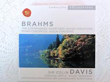 Brahms: The 4 Symphonies Overtures Haydn Variations - Sir Colin Davis 5 CDs