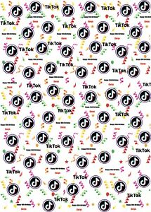 Personalised Tik Tok Birthday Wrapping Paper