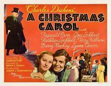 A CHRISTMAS CAROL Starring REGINALD OWEN 11x14 Half Sheet Print 1938