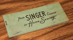 Vintage 1948 SInger Course in Home Sewing Coupon Book