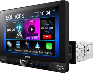 """CAR910X Jensen 1-DIN In Dash Receiver 9"""" Touch Screen Android Auto Apple CarPlay"""