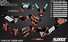 KTM EXC 450 2008-2011 Enduro graphics kit decals stickers 2009 SXF 250 WEC XC-W