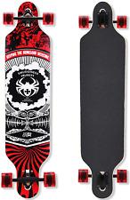 QingAn Longboard Skateboard, 41-Inch Downhill Skateboard Through Deck 8-Layer
