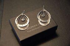 SILPADA - W1681 - Sterling Silver Hoop Glass Drop Earrings - RET