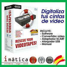 DIGITALIZADOR DE CINTAS DE VIDEO A PC USB ADAPTADOR CONVERTIDOR VHS VIDEO MAGIX