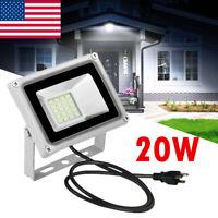 20W LED Flood Light Outdoor Yard Spotlight Floodlight Security Wall Lamp Plug-in