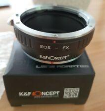 ADAPTATEUR Lens Canon EOS Ef Pour boîtiers FUJI Monture X. NEUF. K&F CONCEPT.