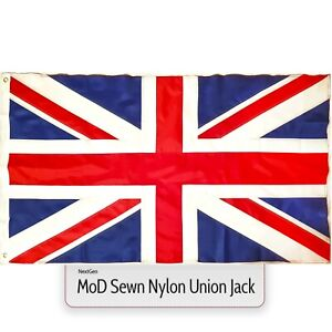 MoD Union Jack Flag Sewn Nylon Fabric 5 x 3FT Large Great Britain GB British UK