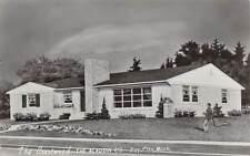 BAY CITY, MI ~ ALLADIN CO. MODEL HOME ADV REAL PHOTO POST CARD ~ used 1953