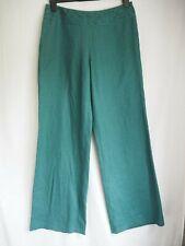Linen Trousers 12 Green Laura Ashley BNWT