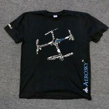 Men's Short Sleeve T-Shirt Tee Black Shirt with Aero Sky RC Logo Design
