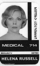 SPAZIO 1999 Cartolina identificazione H. Russell Space 1999 Russell id carta
