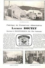 ROSPORDEN (29) CONSERVES LAURENT BOUTET / GRILS CHAPALEN / ADP 1929