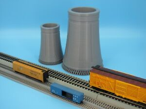 """Nuclear or Industrial ~ Cooling Tower ~ 6"""" Tall for N 1:160 or HO 1:87 Scale USA"""