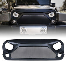 Xprite Front Black Gladiator Grille with Steel Mesh for 07-18 Jeep Wrangler JK