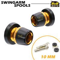 For Kawasaki NINJA 650R 05-11 12 13 14 15 16 Gold Motorcycle CNC Swingarm Spools
