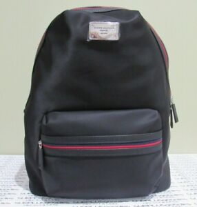 TOMMY HILFIGER Nylon Backpack Bag NWT Black/Red Unisex OS/TU Style 6935760-990