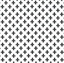 Michael Miller Fleur-de-lis BLACK and WHITE 100%Cotton Fabric FQ CX6556-EBONY