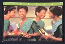1990's Airlanka Airlines postcard -  Air Stewardess