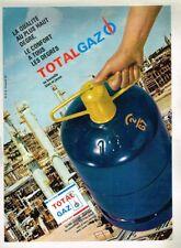A- Publicité Advertising 1967 La Bouteille bleu jaune Total Gaz Butane propane