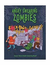 Angry Swearing Zombies (Sweary Zombie Coloring Book for Adults)... Free Shipping