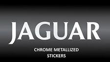 JAGUAR x2 chrome metallised vinyl stickers for car body glass mirror sticker