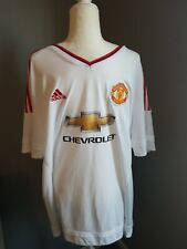Adidas Manchester United 2XL Chevrolet Short Sleeve Climicool Mens Jersey, NEW!
