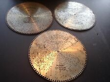 "Lot of 3 Antique Regina 15 1/2"" Music Box Discs No. 1328, 1241, 10400"