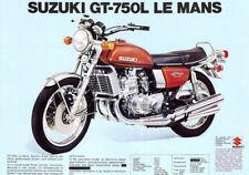 SUZUKI GT750 GT750L 1974 Réservoir à Essence Autocollant Stripe Set 2