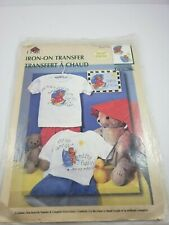 Lucy & Me Iron On Transfer Bears 1996 Vintage Sew-Free Crafts New Old Stock