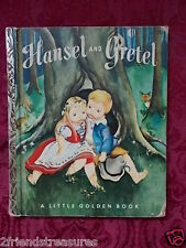 Hansel & Gretel  A Little Golden Book Illustrated  Eloise Wilkin Edition H 1954