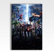 AVENGERS INFINITY WAR CANVAS Marvel Hulk Iron Man Spiderman Poster 30x20 CANVAS