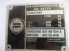 Plaque Signalétique LANCIA plate alu-Bouclier 831ab 831 024 S Delta Intégrales Id-plate s32