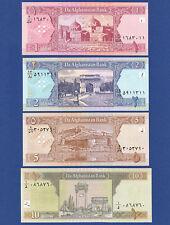 AFGHANISTAN  1 , 2 , 5 ,10  Afghanis (2002) UNC P.64-67