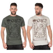 Mens Cargo Bay New York Printed Design Cotton Crew Neck T-Shirt - Medium to 2XL
