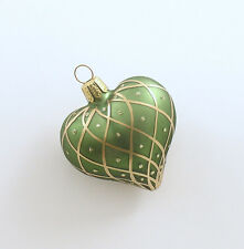 Glass Heart Ornament Made in Germany