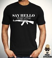 Scarface T shirt Say Hello To My Little Friend Tee New Black Gift Top Men S- XXL