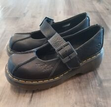 Dr Martens Black Buckle Closed Toe Mary Jane Shoes Women's Size EURO 38 US 7